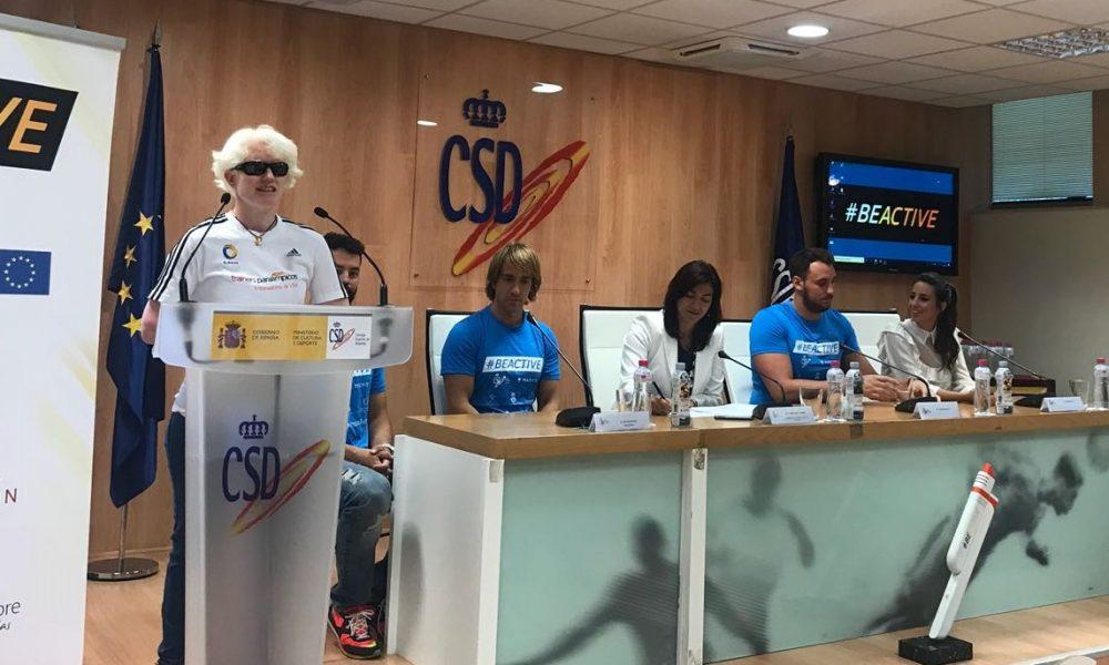 Marta Arce presenta el acto oficial de presentación de la Semana Europea del Deporte 2018.