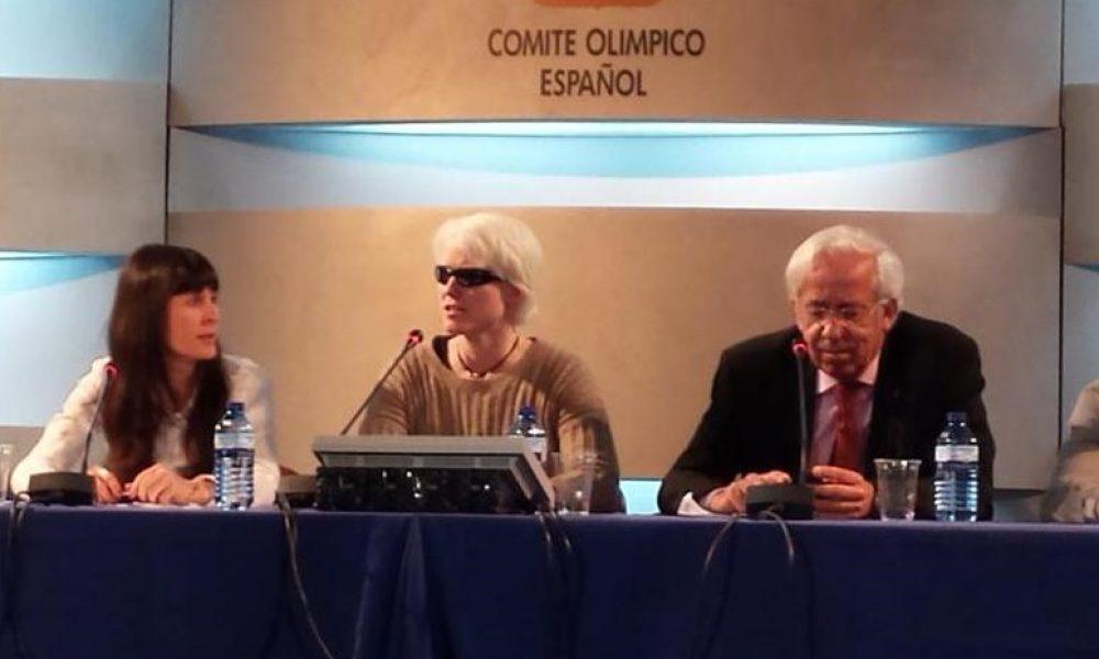 Marta Arce en una presentación del Comité Olímpico Español.